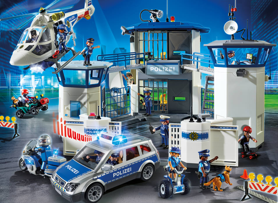 das polizei team von playmobil im einsatz playmobil. Black Bedroom Furniture Sets. Home Design Ideas