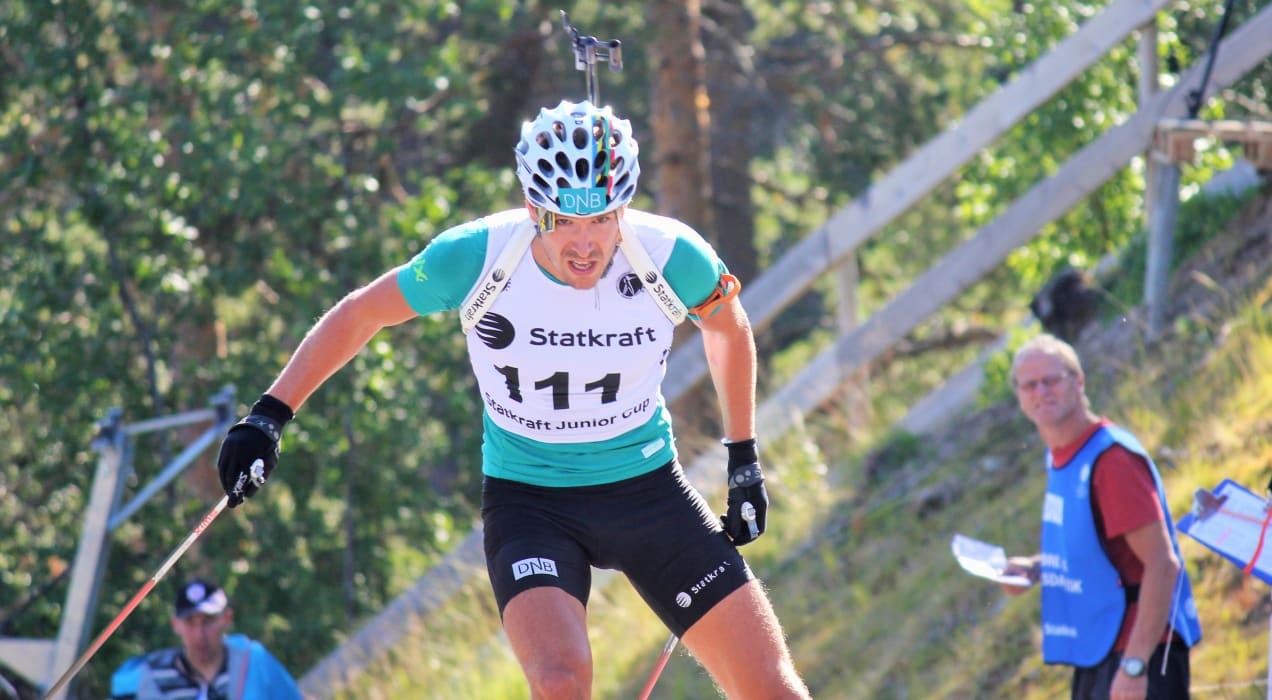 NM rulleskiskyting 2015 Jaktstart Emil Hegle Svendsen - Norges Skiskytterforbund
