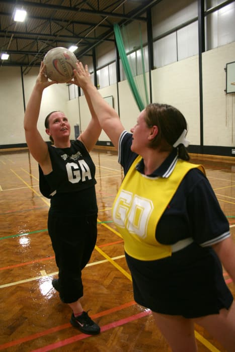 Walking netball @ Keith Sports & Community Centre | Scotland | United Kingdom