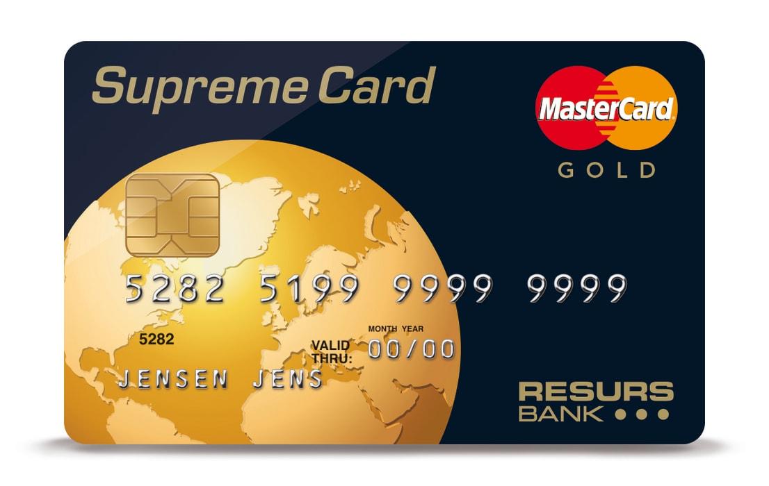 Resurs Bank lanserar kreditkortet Supreme Card Gold i Finland och... - Resurs Bank