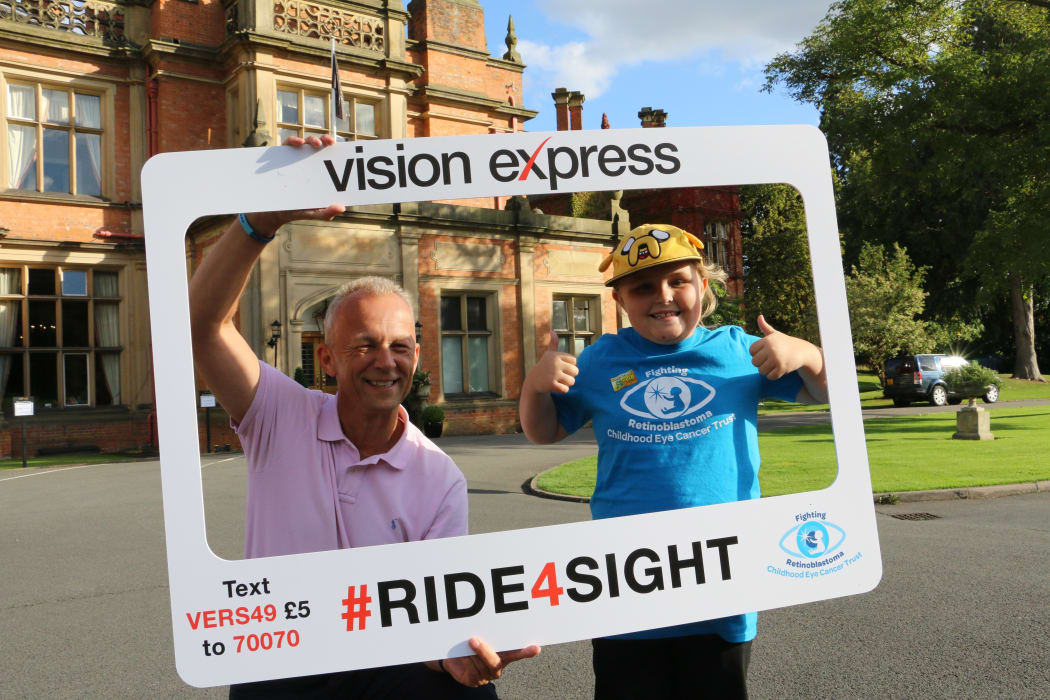 Coventry Eye Cancer Survivor Aged Eight Cheers On Cycling Quest Vision Express