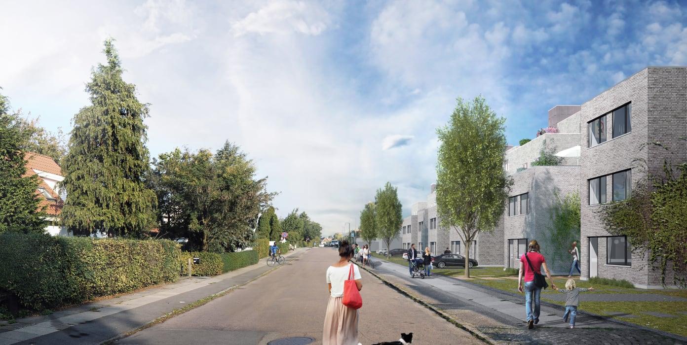 dk roedovrekommune pressreleases nye boliger og stor legeplads taet ved damhussoeen