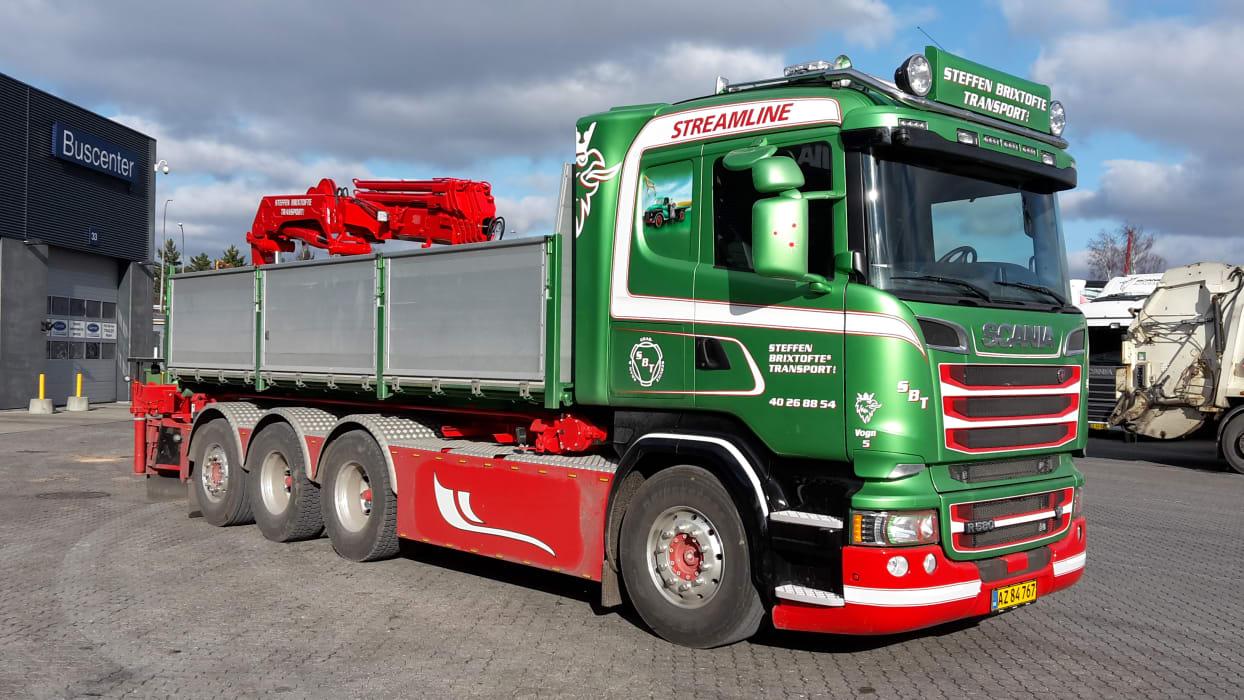 Ny Scania R 580 til Steffen Brixtofte Transport - Scania Danmark A/S