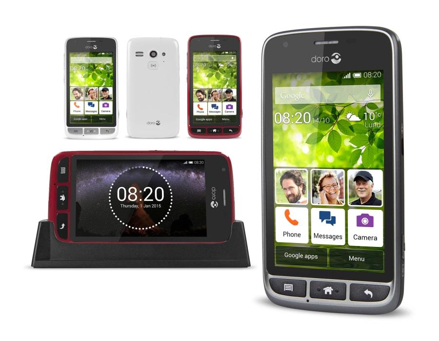 doro liberto 820 mini kompaktes smartphone mit gro er. Black Bedroom Furniture Sets. Home Design Ideas