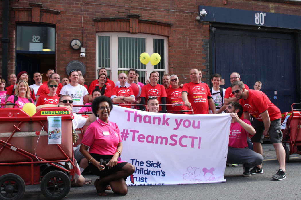 Posties 39 20 Mile Push To Raise Thousands For Charity The Sick Childrens Trust
