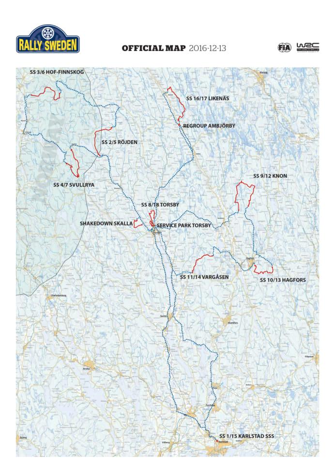Sebastien Ogier Och Ford Fiesta WRC är Redo För Rally Sweden - Wrc sweden 2015 map