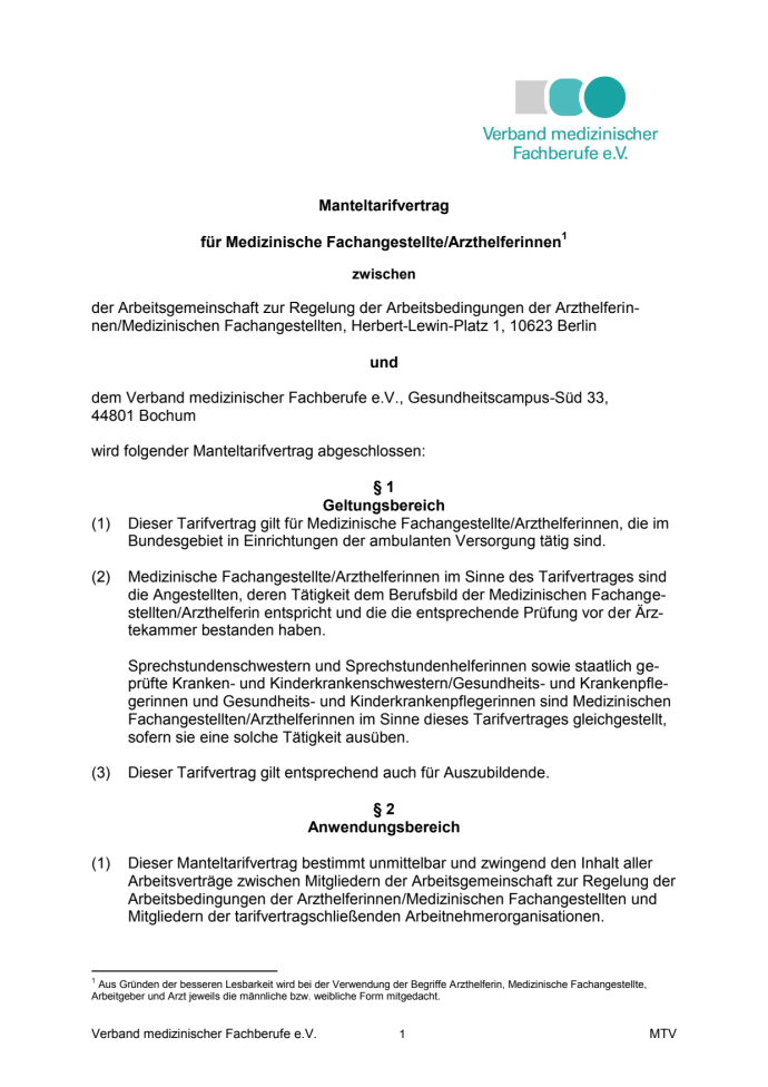 Neuer Tarifvertrag Für Medizinische Fachangestellte Tritt