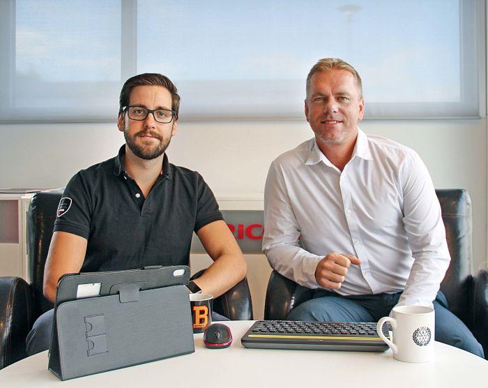 Tommie Blomstedt och Niklas Grandien på Xelent Office i Gävle.
