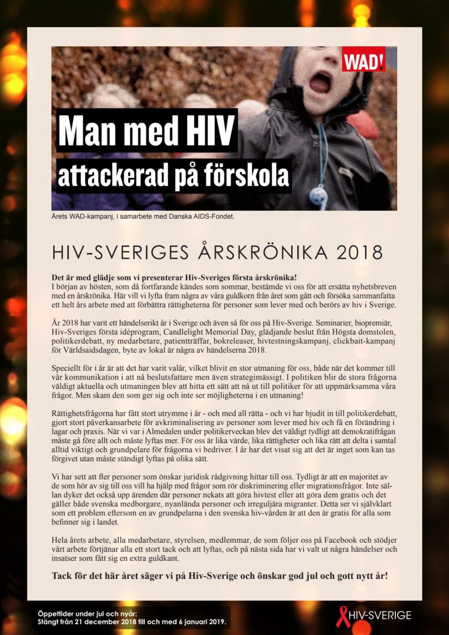 hur många har hiv i sverige 2018