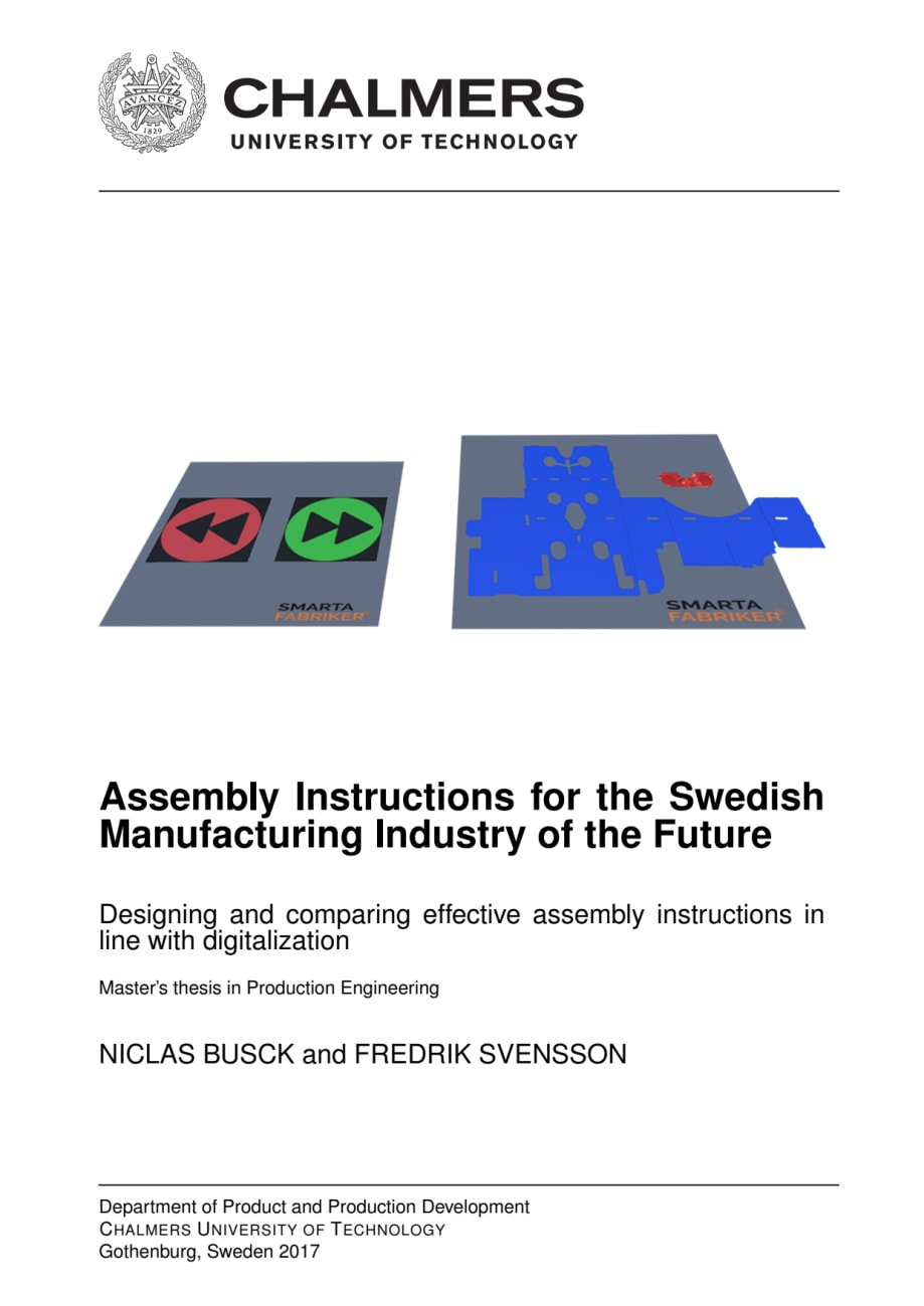 Assembly Instructions for the Swedish Manufacturing Industry