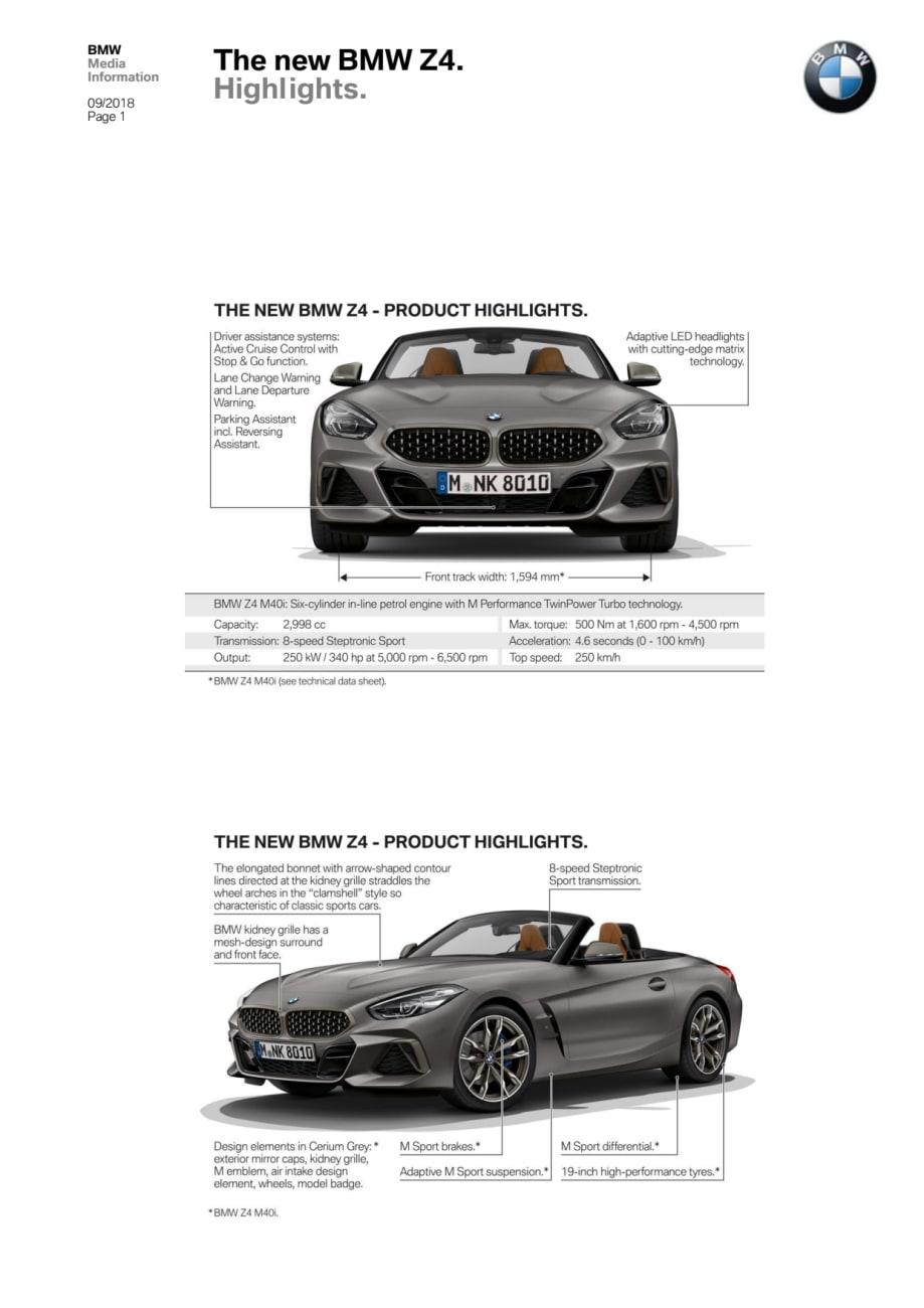 Den nye BMW Z4 - Highlights - BMW Danmark A/S
