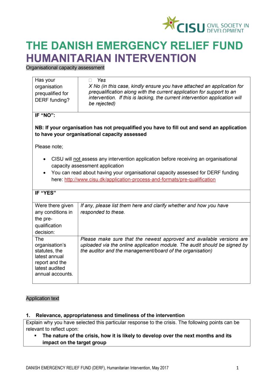 Intervention Application Sos Børnebyerne Call 17 008 Ro Derf