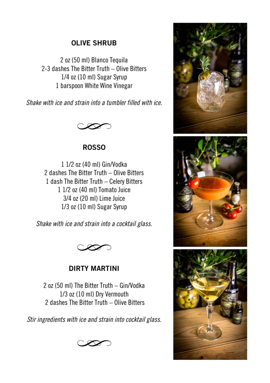 The Bitter Truth Olive Bitters Cocktail Recipes Love Drinks