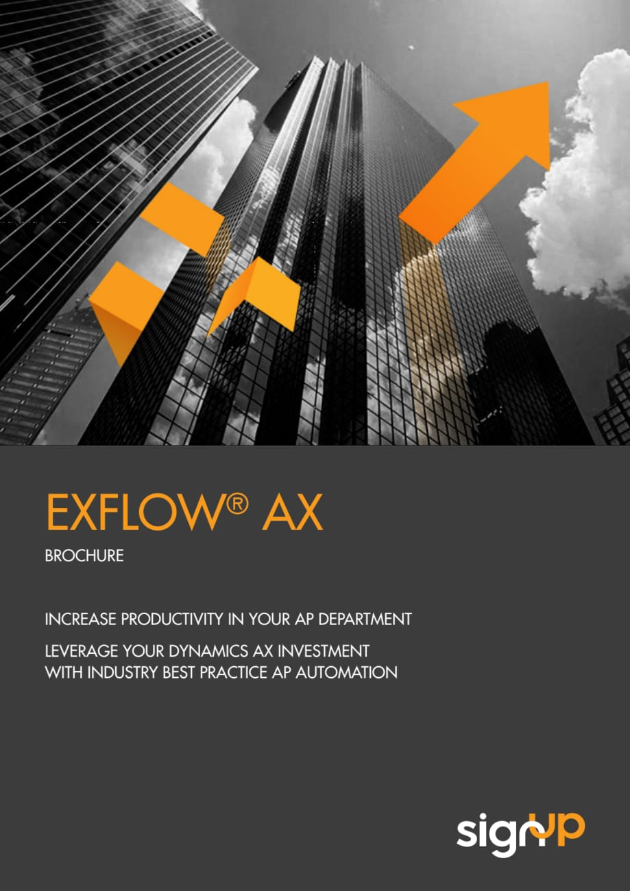 Accounts Payable Automation With Exflow Ax Signup Software Ab