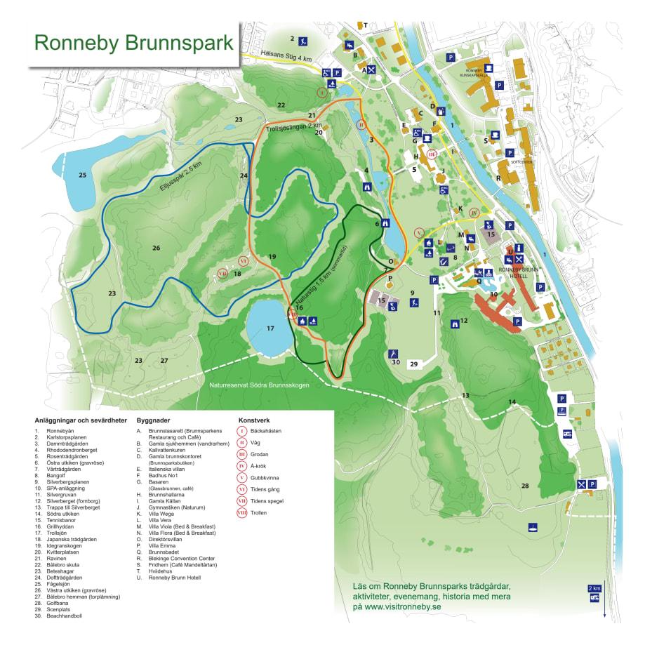 Kommuner I Blekinge Karta.Karta Over Brunnsparken Ronneby Kommun
