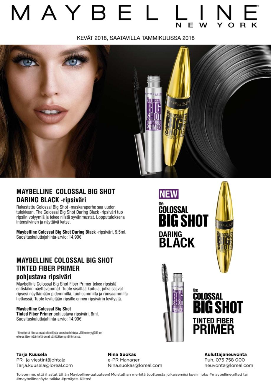 0ce47af80ba Maybelline Big Shot -maskara, Daring Black - L'Oréal Finland Oy