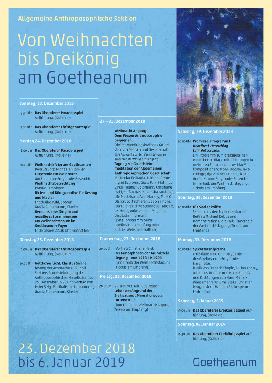 Weihnachtsspiele Weihnachtsfeier.Weihnachten Am Goetheanum Goetheanum