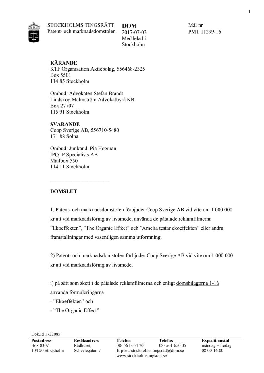 patent och marknadsdomstolen