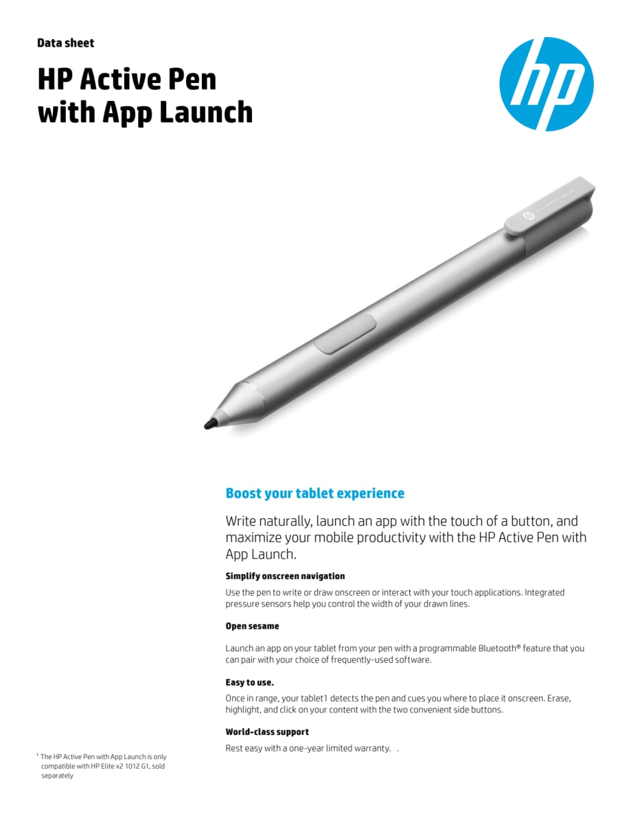 HP Active Pen Datasheet - HP Norge AS