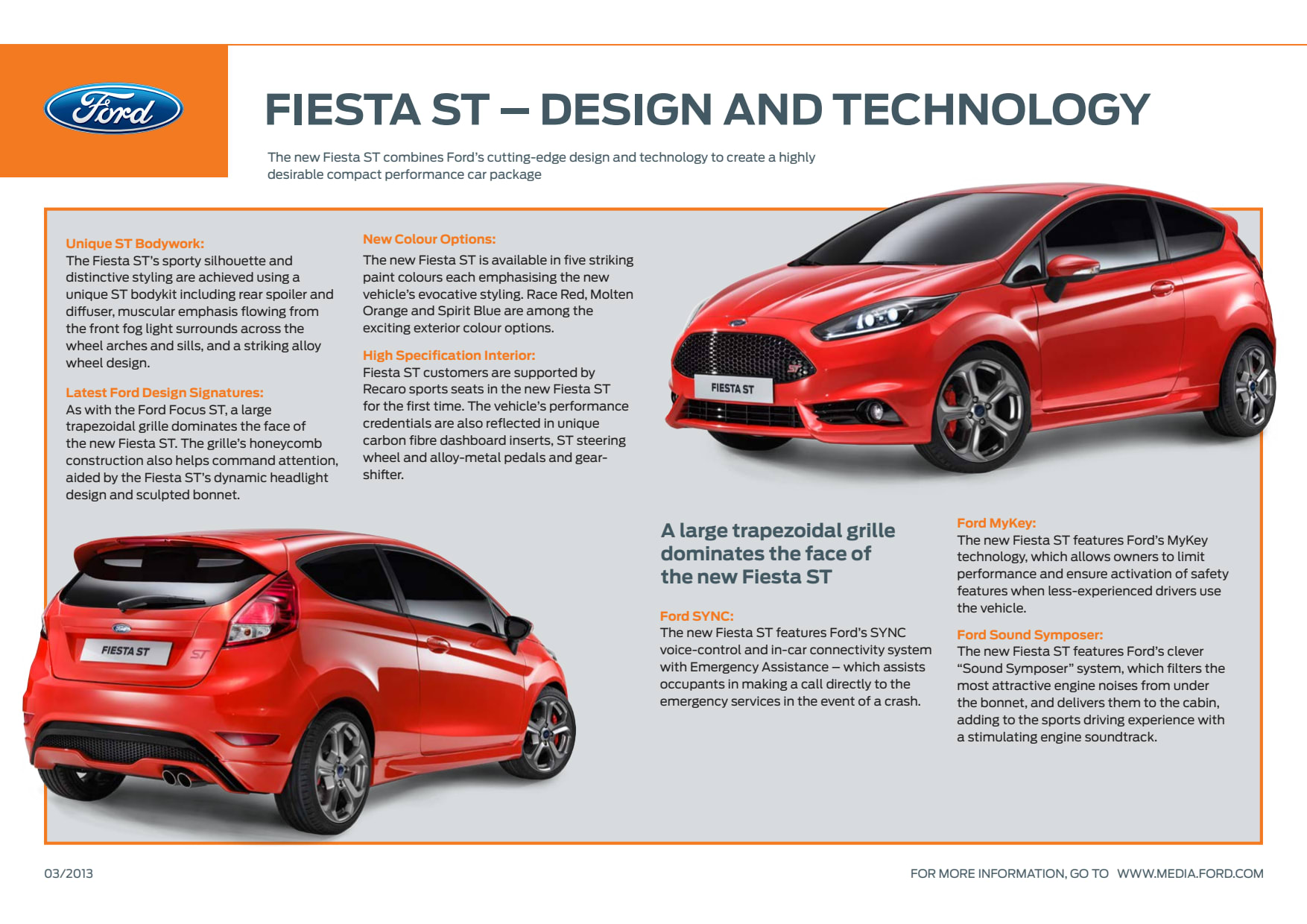 Fiesta st design technology ford motor company Ford motor company technology
