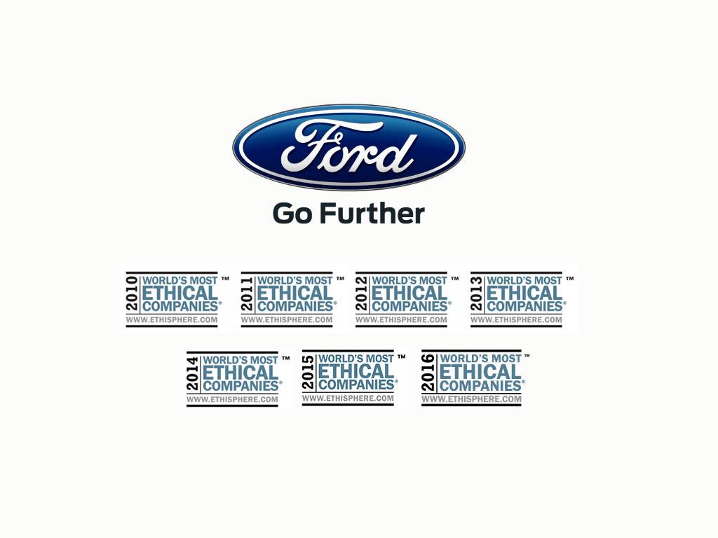 Ford enda biltillverkaren bland v rldens mest etiska Ford motor company press release