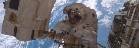 Christer Fuglesang svarar på frågor om rymden