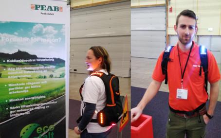 4lights lysande ryggsäck populär på Vägmässa