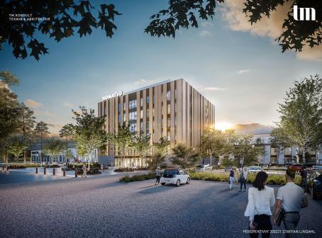 TM Konsult har fått förtroendet att bistå projektledning, projekteringsledning, arkitektur och inredning till projektet Komatsu Forest One i Umeå.