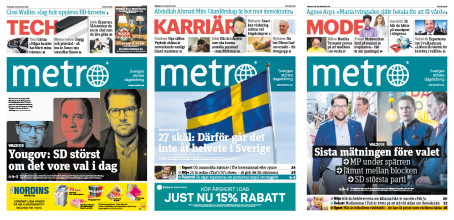 Metro tror på extraval