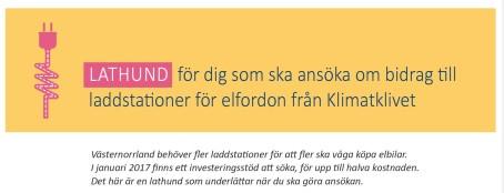 Januarirea: Halva priset på laddstationer i Västernorrland