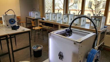 3D-skrivarna går varma