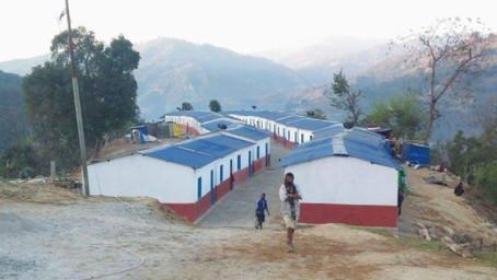 Återuppbyggnad av Mahji Gaun byn i Nepal