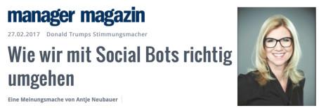 Meinungsmache: Die Social-Bot Armee des Donald Trump