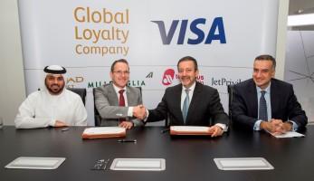 Visa unterzeichnet exklusive Partnerschaft mit der Global Loyalty Company der Etihad Aviation Group