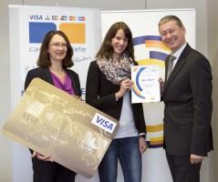 Visa Europe Reisequiz: Preisübergabe an die Gewinnerinnen
