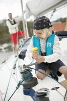Bild med länk till högupplöst bild Regatta Aquasafe Junior Turkos Miljöbild