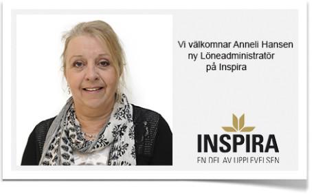 Anneli Hansen ny Löneadministratör på Inspira