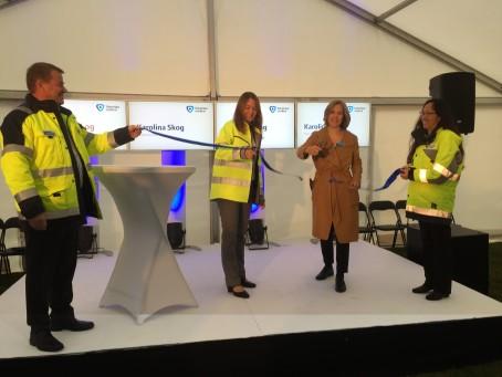 Miljöministern invigde Sveriges första fullskaliga rening av läkemedelsrester i avloppsvatten