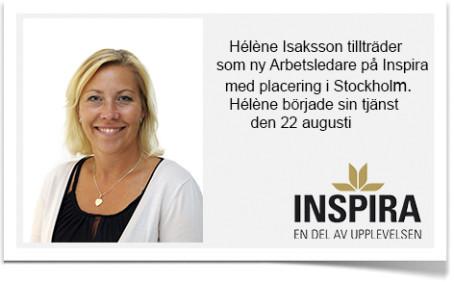 Hélène Isaksson är ny arbetsledare på Inspira.