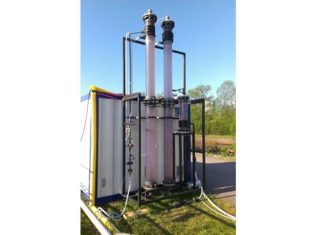 Christian Berner AB har levererat en pilotanläggning för ozonoxidation av läkemedelsrester till Nykvarns avloppsreningsverk