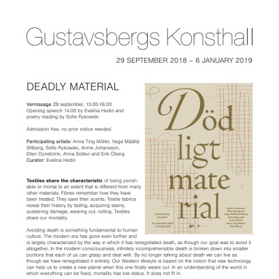 Deadly Material – a textile group exhibition