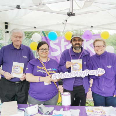 Battersea Park makes May purple for the Stroke Association