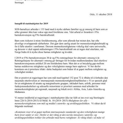 Høringsnotat til utenrikskomiteen