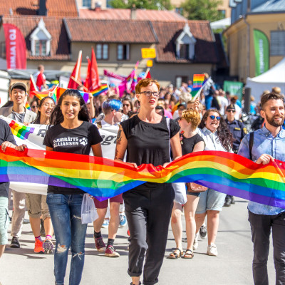 Mångfaldsparaden i Almedalen 2016. Foto: Joakim Berndes, CC-BY, Wikimedia Commons.