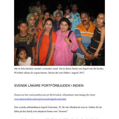 Pressmeddelande november 2012 (på svenska)