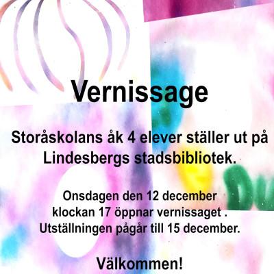 Lindesbergs Stadsbibliotek: Vernissage