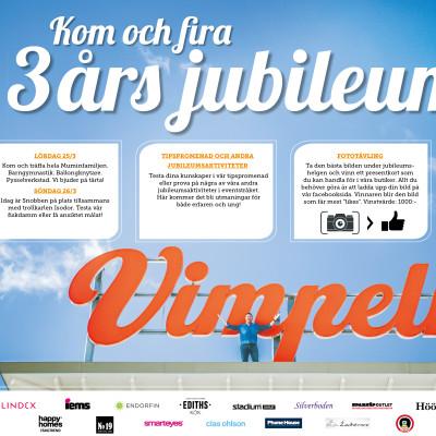 Vimpeln - Alingsås Köpcenter firar 3 år och passerar drömgränsen på 10 000 000 besökare!