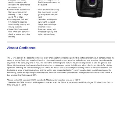 E-M1X Specifications