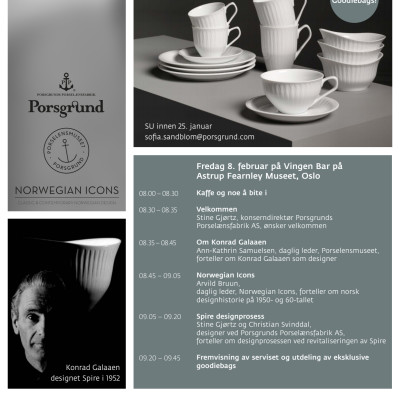 Invitasjon lansering Spire 8. februar Vingen Bar
