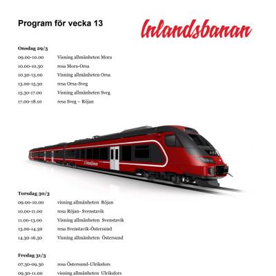 Program för vecka 13